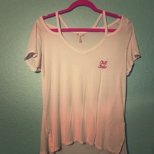"💕VS Pink ""chill babe"" Soft Tee"